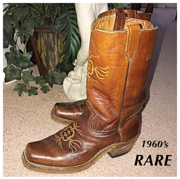 04cd1f8c0fe Sears Shoes   Vintage 1960s Leather Cowboy Boots Mens 9   Poshmark